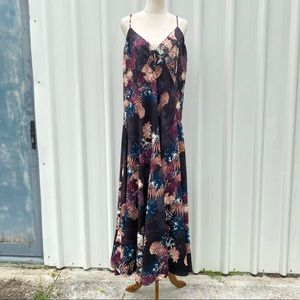 City Chic Maxi Dress Floral V-neck Sleeveless Cocktail Party Plus Size XS